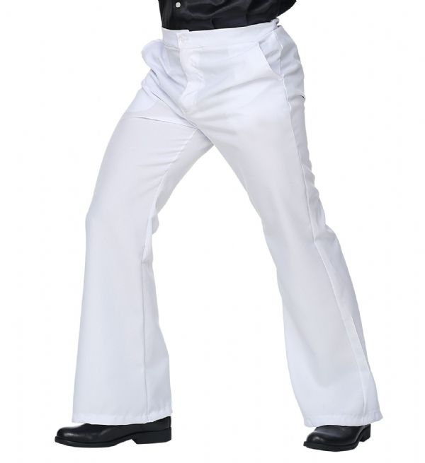 70s Man Pants - White Trouser Pants 70s Fancy Dress
